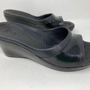 Crocs Boulder Colorado Wedge Heel Sandals Sz 8